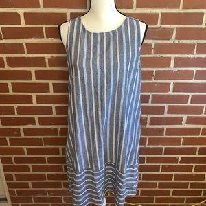 Mystree Striped Fringe Boutique Dress